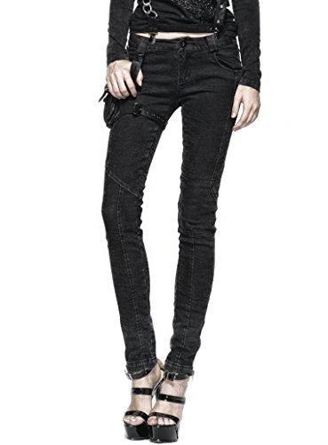 Punk Rave -  Jeans  - skinny - Basic - Donna nero W42