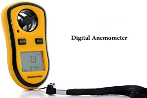 Wind Speed Meter - Anemometer, Thermometer, Measures Air Velocity