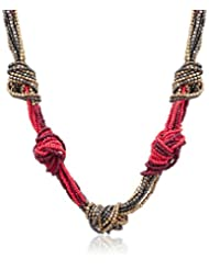Swan Fabric Multi-strand Necklace For Women (Gold) (AB-NL-L1494)