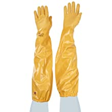 "Showa Best 772 Atlas Nitrile Coated Glove, Cotton Interlock Liner, Chemical Resistant, 26"" Length"