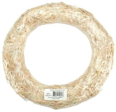 "Straw Wreath 14"" Shrinkwrapped"