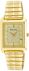 Sonata Analog Champagne Dial Mens Watch - NF7007YM13