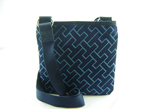 Tommy Hilfiger Small Xbody Crossbody Handbag Navy Blue Turquoise