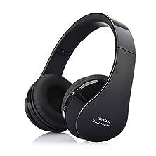 buy Tmalltide Universal Bluetooth Wireless Headset Stereo Headphone Earphone For Smartphone (Black)