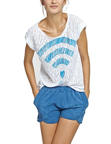 Dear Tee Camiseta Mujer Wifi, T-Shirt Donna, Bianco, Small