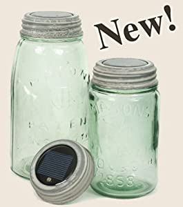 Solar Lid-light - Weathered Galvanized Finish (Lid Only) Fits Any Mason Jar