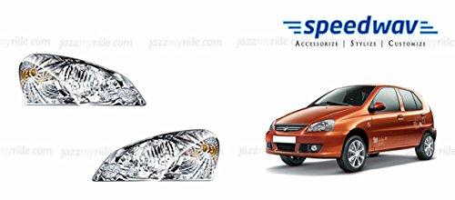 Lumax Car Crystal Headlight Assembly SET OF 2- Tata Indica