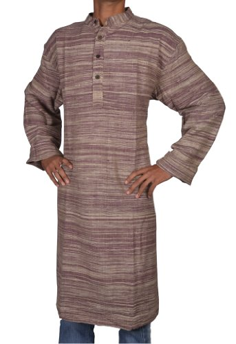 Indian Casual Wear Khadi Mens Long Kurta Fabric For Winter & Summers Size 6XL