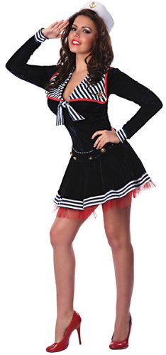 Delicious Pin Me Up Sailor Costume, Multi, Large