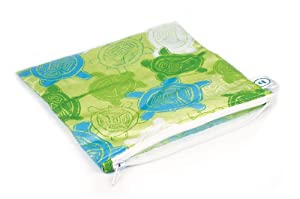 Bumkins Reusable Sandwich and Snack Bag, Turtles, Large