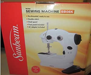 Sunbeam Mini Sewing Machine Sb08k with Bonus 76 Piece Sewing Kit Included by Sunbeam