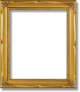 - Solid Wood Poster Frame 16x20 Gold Border 322 - Poster Frame Sets