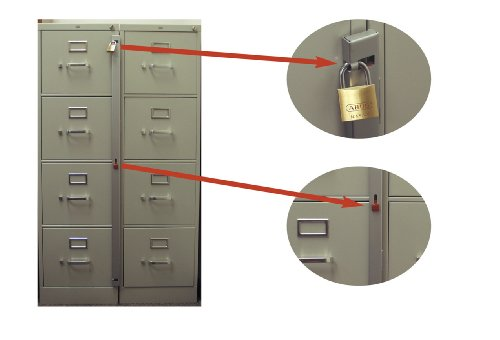 Imagen de Barra de fijación para su uso con 3 cajón archivador (gabinete no incluido)