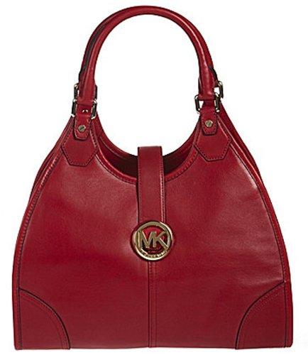 Michael Kors Hudson Women'S Large Shoulder Tote Handbag Red