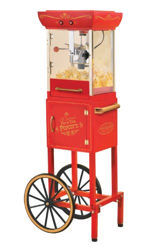 Nostalgia Electrics Ccp-300 Vintage Collection 48-Inch Popcorn Cart