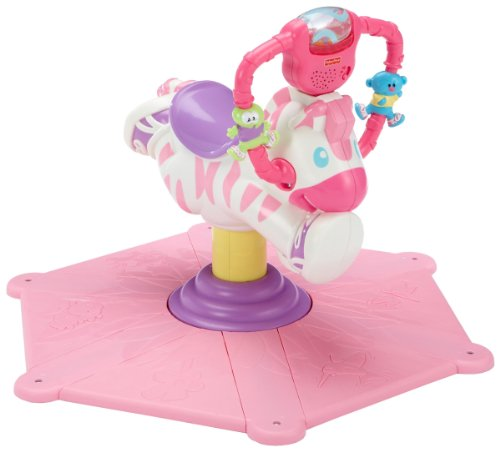 Fisher-Price Gymtastics Bounce  &  Spin Zebra Pink