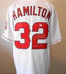 Josh Hamilton Signed Jersey Hologram & Coa Anaheim Angels Autograph J75137 - JSA...