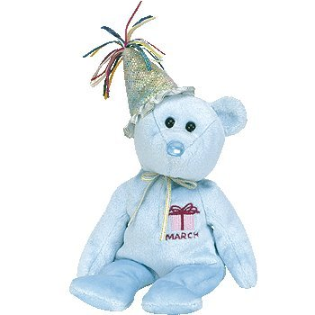 TY Beanie Babies - March the Teddy Birthday Bear
