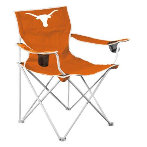 Logo Texas Longhorns Ncaa Deluxe Folding Chair, Texas Longhorns, Steel