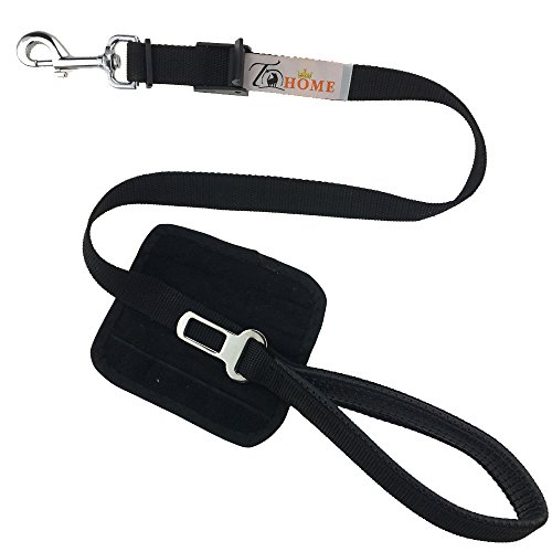 Pet Dog Car Safety Seat Belt Tether, Leads with Soft Padded Handle, Adjustable Safety Seatbelt Harness for Car Vehicle, Black (Window Cover 39 Inch Length compare prices)
