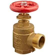 Moon 170-1521 Brass Angle Hose Valve, Rising Stem, 1-1/2&#034; FNPT x MNH