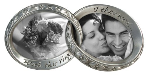 Wedding Bands interlocking Duo picture frame-7 1/4