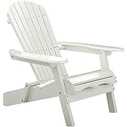 Merry Garden White Paint Simple Adirondack Chair