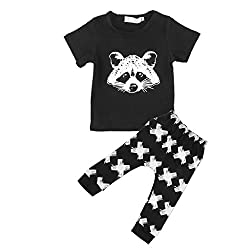 Imported 2x Newborn Toddler Baby Boy Outfit T-shirt Top+Pant Kid Clothes Set 0-2Y 70