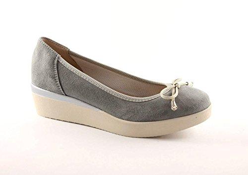 GRUNLAND AUGE SC1663 perla scarpe donna ballerina zeppetta 35