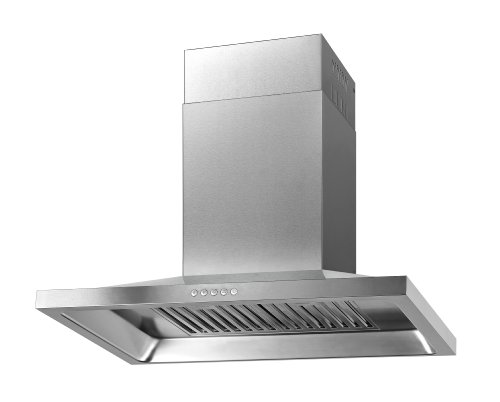 "Firebird New 30"" European Style Wall Mount Stainless Steel Range Hood Vent W/Push Button Control Fbtk-A803H-75"