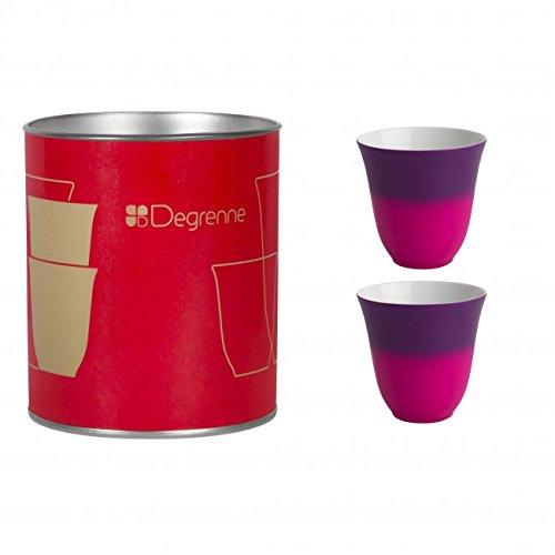 Coffret de 2 tasses à moka Illusions améthyste