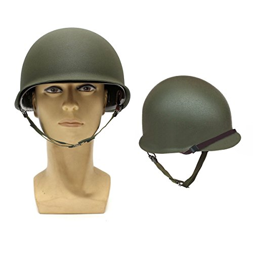 Military Helmet,LOPEZ 2016 NEW WW2 Military Steel M1 Helmet Military Tactical Combat Fast Helmet With Netting Cover WWII Army Equipment