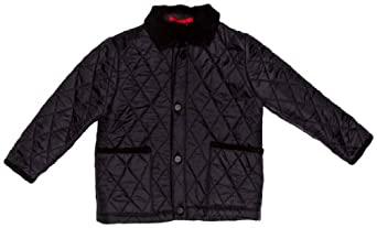 Hunter Quilted B Single Breasted Boy's Jacket Black 10-11 Years