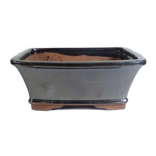 18cm Metallic Glazed Glazed Bonsai Pot