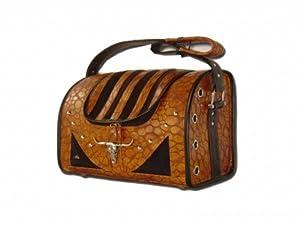 Backbone Western Style Faux Leather Pet Carrier
