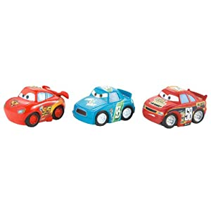 Cars Micro Drifters Classic Lightning McQueen, Octane Gain and Spare O Mint Vehicle 3-Pack