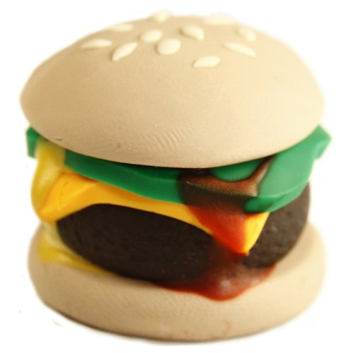 Handmade Polymer Clay Cheeseburger for 18 Inch Dolls Like American Girl