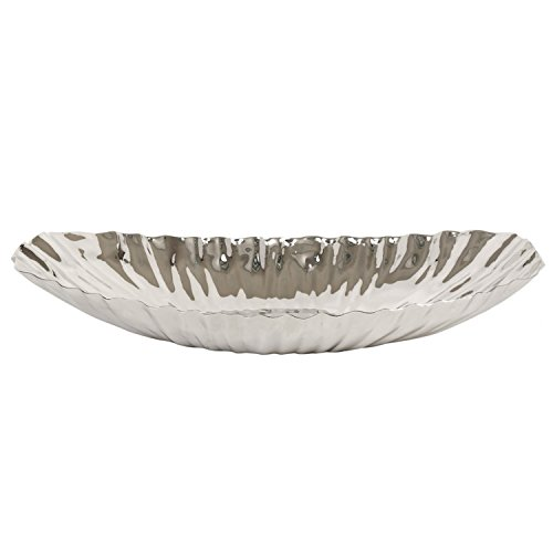 Hosley® Silver Finish Decor Tray - 13.6