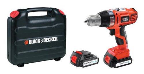 Black Decker Black Decker Asl146BK1H Perceuse sans fil Autoselect 14,4 volts Lithium