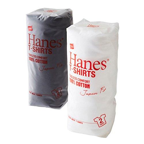 (ヘインズ)HANES ジャパンフィット クルーネックTシャツ(2枚組)H5110 hanes63972 サイズM 色WHITE