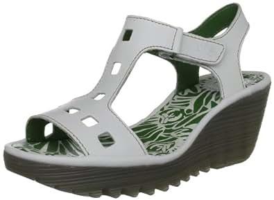Fly London Yist, Women's Wedge Heel Sandals, Off-White, 3 UK
