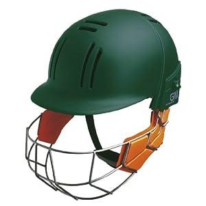 GUNN & MOORE Hero Cricket Helmet , Green, Senior