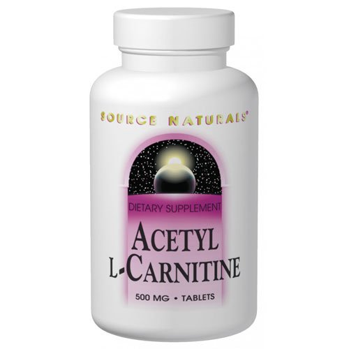 Source Naturals - Acetyl L-Carnitine, 500 Mg, 30 Tablets