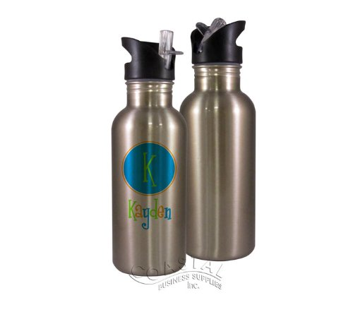 Stainless Steel Sublimation Water Bottle W Straw Top