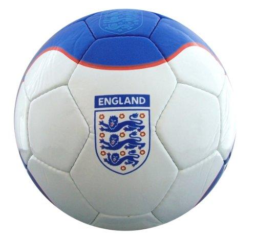 England Cobra Glossy Ball - White/Blue, Size 5