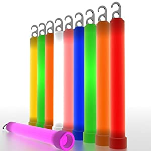 6 Inch Glow Sticks - 10 per pack - Military Grade, Burns For 12 hours. Perfect for Camping, Fishing and Parties