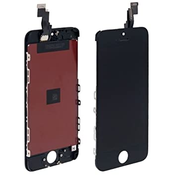 3 en 1 (New High Quality LCD Touch Pad LCD Digitizer Frame) Assembly for iPhone 5C (Black)