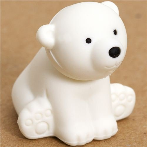 white polar bear eraser by Iwako from Japan - 1