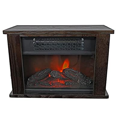 "LifeSmart LifePro LS-PCFP1056 750W Infrared Quartz 14"" Mini Fireplace Heater"