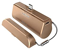 iWALK Link Me® 3000mAH Rechargeable Docking Case Friendly Backup Battery for ALL Smartphones and Tablets with Micro USB - Gold